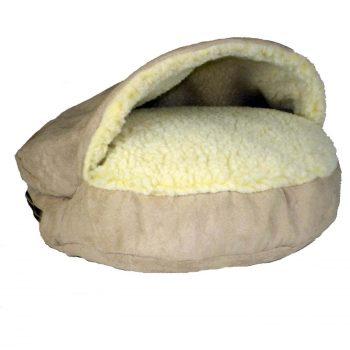 Snoozer Cozy Cave Small - Buckskin - Luxury-0