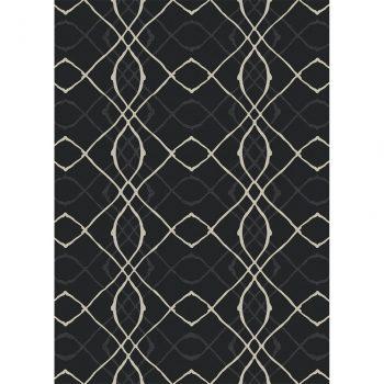 Ruggable Washable Rug - Amara Black (150cm x 210 cm)-0