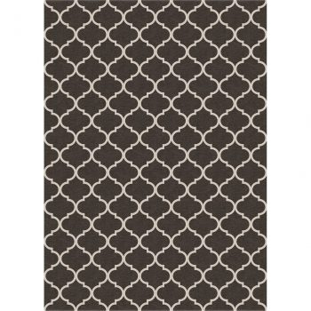 Ruggable Washable Rug - Trellis Gate Rich Grey & White (150cm x 210 cm)-0