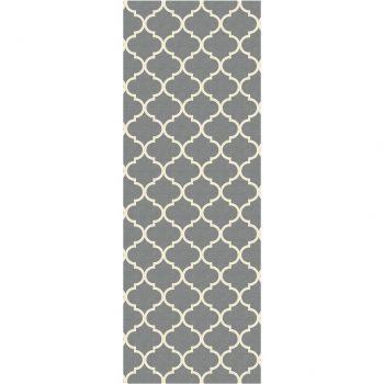 Ruggable Washable Rug - Moroccan Trellis Grey (67 cm x 210 cm)-0