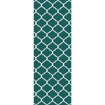 Ruggable Washable Rug - Moroccan Trellis Teal (67 cm x 210 cm)-0