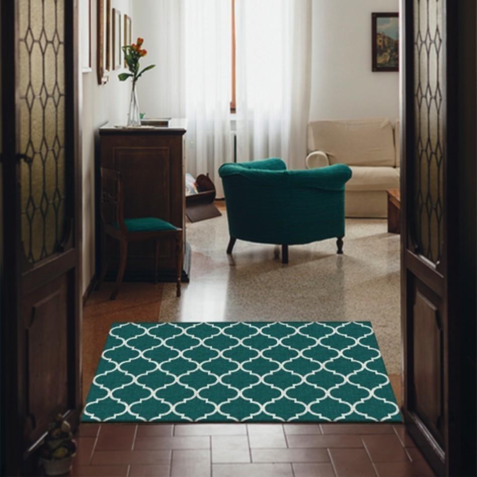 Moroccan Trellis Teal (90 cm x 150 cm