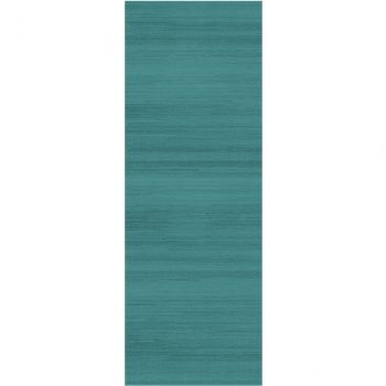 Ruggable Washable Rug - Solid Textured Ocean Blue (67 cm x 210 cm)-0