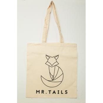 Canvas tas van 100% katoen - met MR. TAILS logo-0