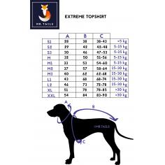 Size Chart DG Extreme Topshirt